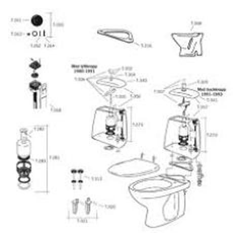Ido toalettstol sprängskiss