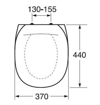 Gustavsberg toalettsits äldre modell